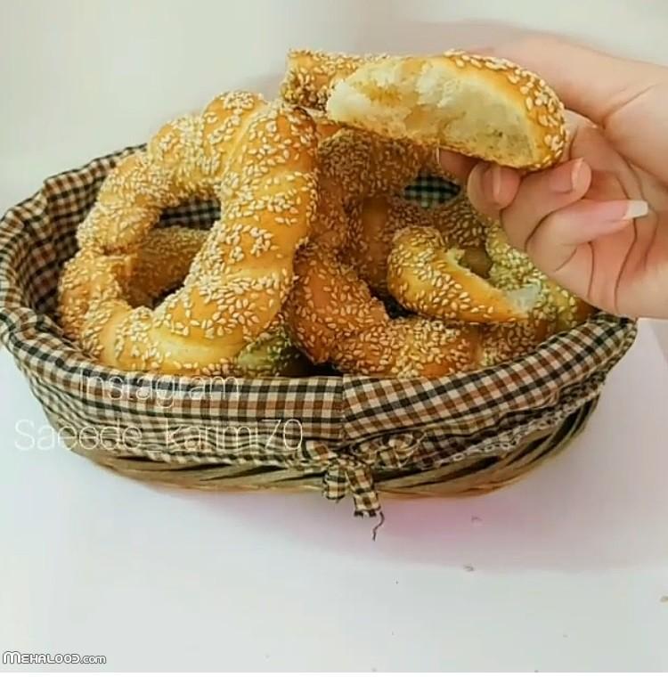 طرز تهیه نان سیمیت ترکیه خوشمزه به طور کامل تصویری
